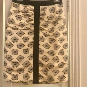 Milly Ecru puffy pencil skirt-size 2